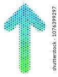 halftone round spot arrow... | Shutterstock .eps vector #1076399297