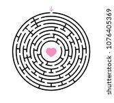 abstract round maze. an...   Shutterstock .eps vector #1076405369