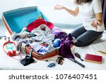 travel and vacation concept ... | Shutterstock . vector #1076407451