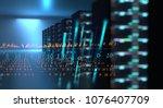 3d illustration of server... | Shutterstock . vector #1076407709