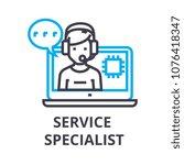 service specialist thin line... | Shutterstock .eps vector #1076418347