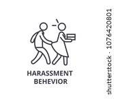 harassment behevior thin line... | Shutterstock .eps vector #1076420801