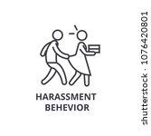 harassment behevior thin line... | Shutterstock .eps vector #1076420801