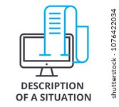 description of a situation thin ... | Shutterstock .eps vector #1076422034