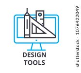 design tools thin line icon ... | Shutterstock .eps vector #1076422049