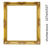 Old picture frame on white...
