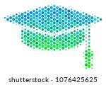 halftone round spot graduation...   Shutterstock .eps vector #1076425625