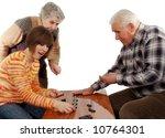 grandparents and granddaughter... | Shutterstock . vector #10764301