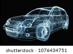 abstract car consisting of... | Shutterstock . vector #1076434751