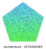 halftone circle filled pentagon ...   Shutterstock .eps vector #1076436485