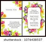 romantic invitation. wedding ...   Shutterstock .eps vector #1076438537
