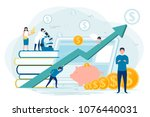 vector concept illustration  ... | Shutterstock .eps vector #1076440031