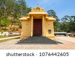 shri bhakta hanuman temple is a ... | Shutterstock . vector #1076442605
