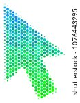 halftone circle cursor arrow... | Shutterstock .eps vector #1076443295