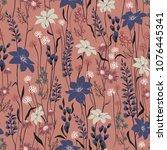 seamless vector texture. retro... | Shutterstock .eps vector #1076445341