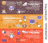 set of horizontal banners with...