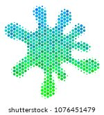 halftone round spot blot icon.... | Shutterstock .eps vector #1076451479
