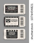 cinema ticket set isolated on... | Shutterstock .eps vector #1076454821