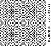 black and white seamless ethnic ... | Shutterstock .eps vector #1076455361