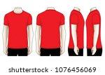 set red t shirt for template   Shutterstock .eps vector #1076456069