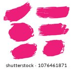 collection of hand drawn pink...   Shutterstock .eps vector #1076461871