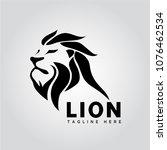 lion head logo | Shutterstock .eps vector #1076462534