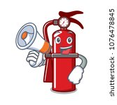 with megaphone fire... | Shutterstock .eps vector #1076478845