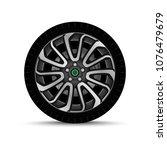 car wheel. tire | Shutterstock .eps vector #1076479679