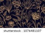 spring flowers. flower vintage... | Shutterstock .eps vector #1076481107