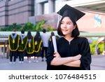 graduation student commencement ...   Shutterstock . vector #1076484515