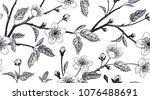 spring  floral vintage seamless ... | Shutterstock .eps vector #1076488691