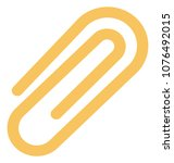 paper clip isolated color...   Shutterstock .eps vector #1076492015