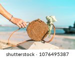 woman hand with fashionable... | Shutterstock . vector #1076495387