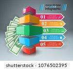 3d infographic design template... | Shutterstock .eps vector #1076502395