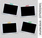 set four photo frame icon.... | Shutterstock .eps vector #1076502401