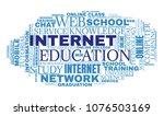 internet education concept....   Shutterstock . vector #1076503169