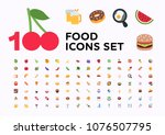 food and beverages  fruits ... | Shutterstock .eps vector #1076507795