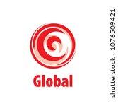 vector logo globe   Shutterstock .eps vector #1076509421