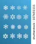 snowflake winter set  vector   | Shutterstock .eps vector #107651111