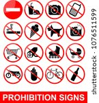 prohibition set symbol | Shutterstock .eps vector #1076511599