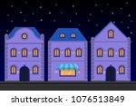 houses. old european city... | Shutterstock .eps vector #1076513849