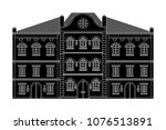 houses. old european buildings. ... | Shutterstock .eps vector #1076513891