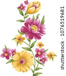 elegant flowers bouquet | Shutterstock .eps vector #1076519681
