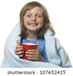Little Girl With A Cup Of Hot...