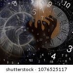 space numerology  hours of the... | Shutterstock . vector #1076525117