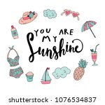 unique hand drawn lettering ... | Shutterstock .eps vector #1076534837