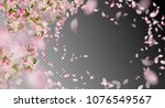 vector background with spring... | Shutterstock .eps vector #1076549567