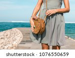woman hands with fashionable... | Shutterstock . vector #1076550659