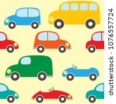 cute seamless vector pattern... | Shutterstock .eps vector #1076557724