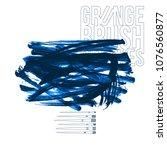 blue brush stroke and texture....   Shutterstock .eps vector #1076560877